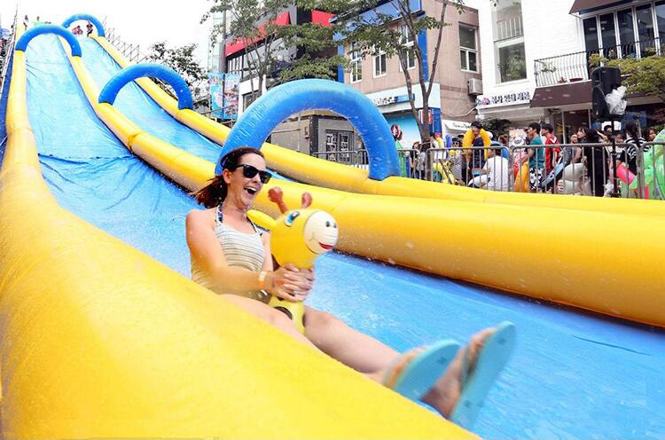 Inflatable Long Water Slide / Inflatable Slide The City For Adult