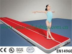 Red Fabric Gym Air Track Mat