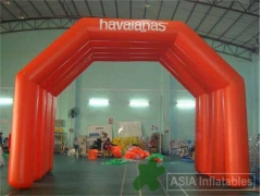 26 Foot Orange Inflatable Arch Tent