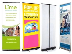 Stand popup banner