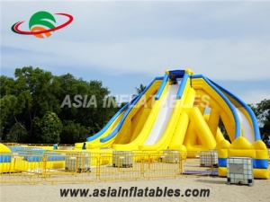 Inflatable Long Hippo Water Slide