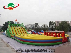 U Shape Inflatable Obstacle Challenge Games