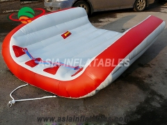 Custom Drop Stitch Inflatables, 2 Person Water Sports Floating Platform Inflatable FlyingTube Towable with Wholesale Price
